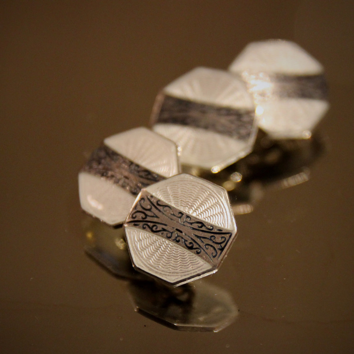 Sterling Deco Cufflinks