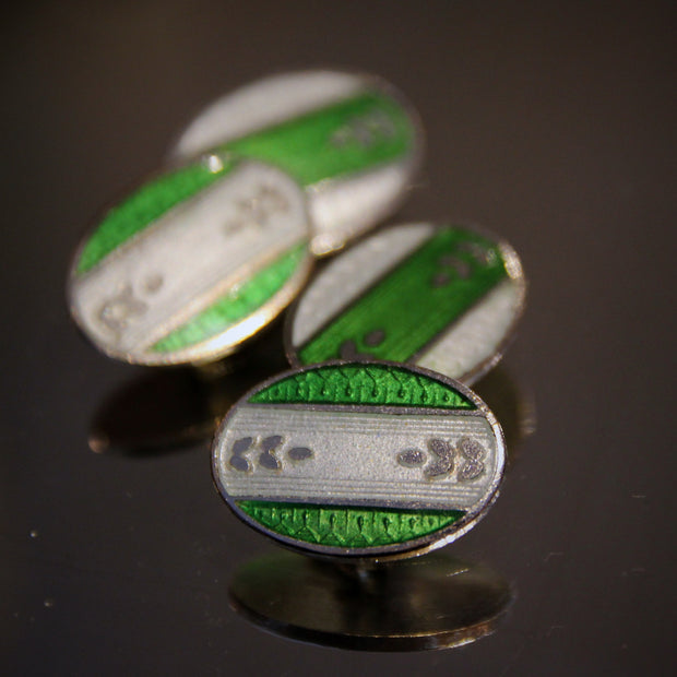 Emerald & White Cufflinks