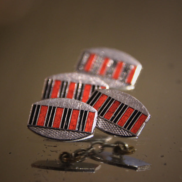Regimental Deco Cufflinks