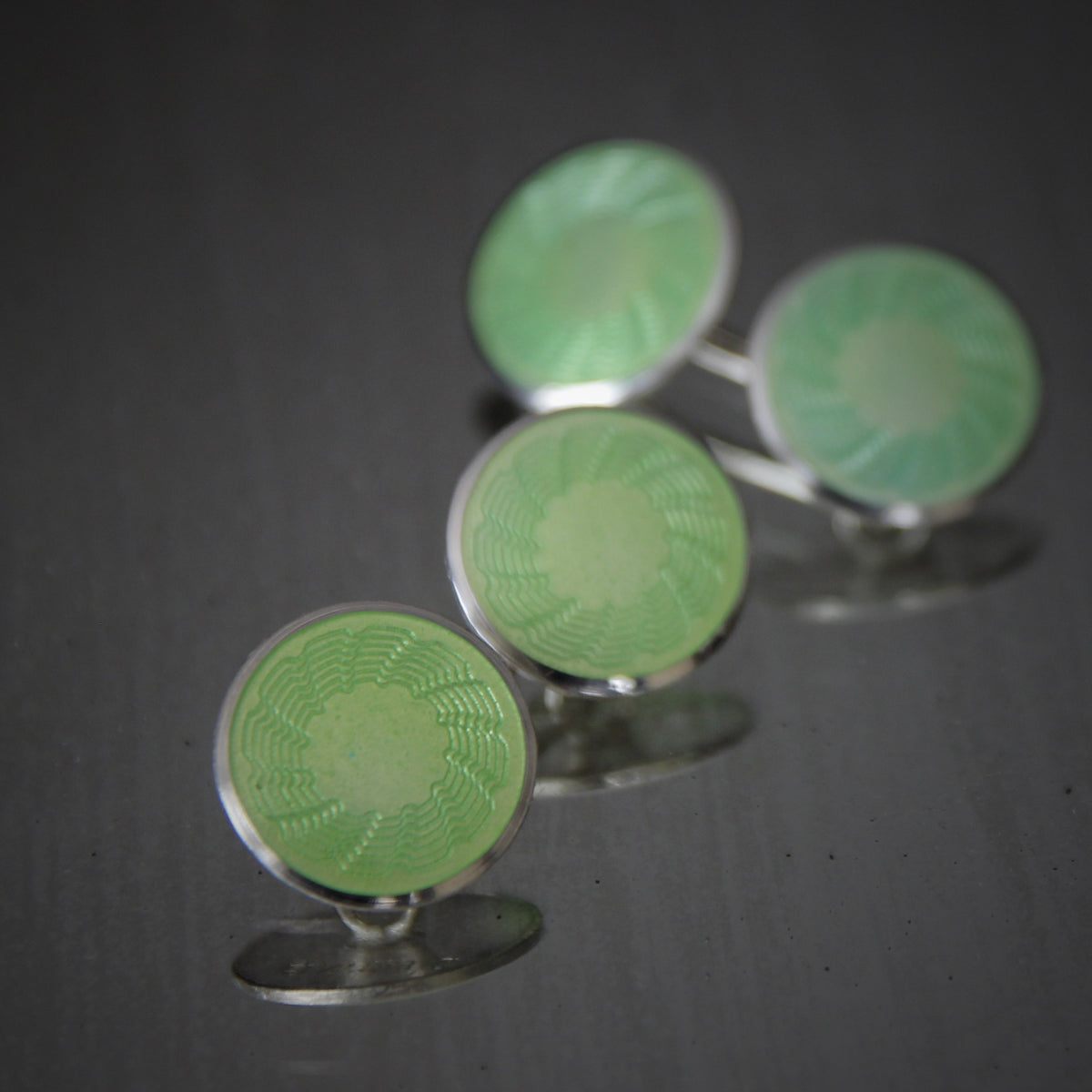 Celadon Sterling Art Deco Cufflinks