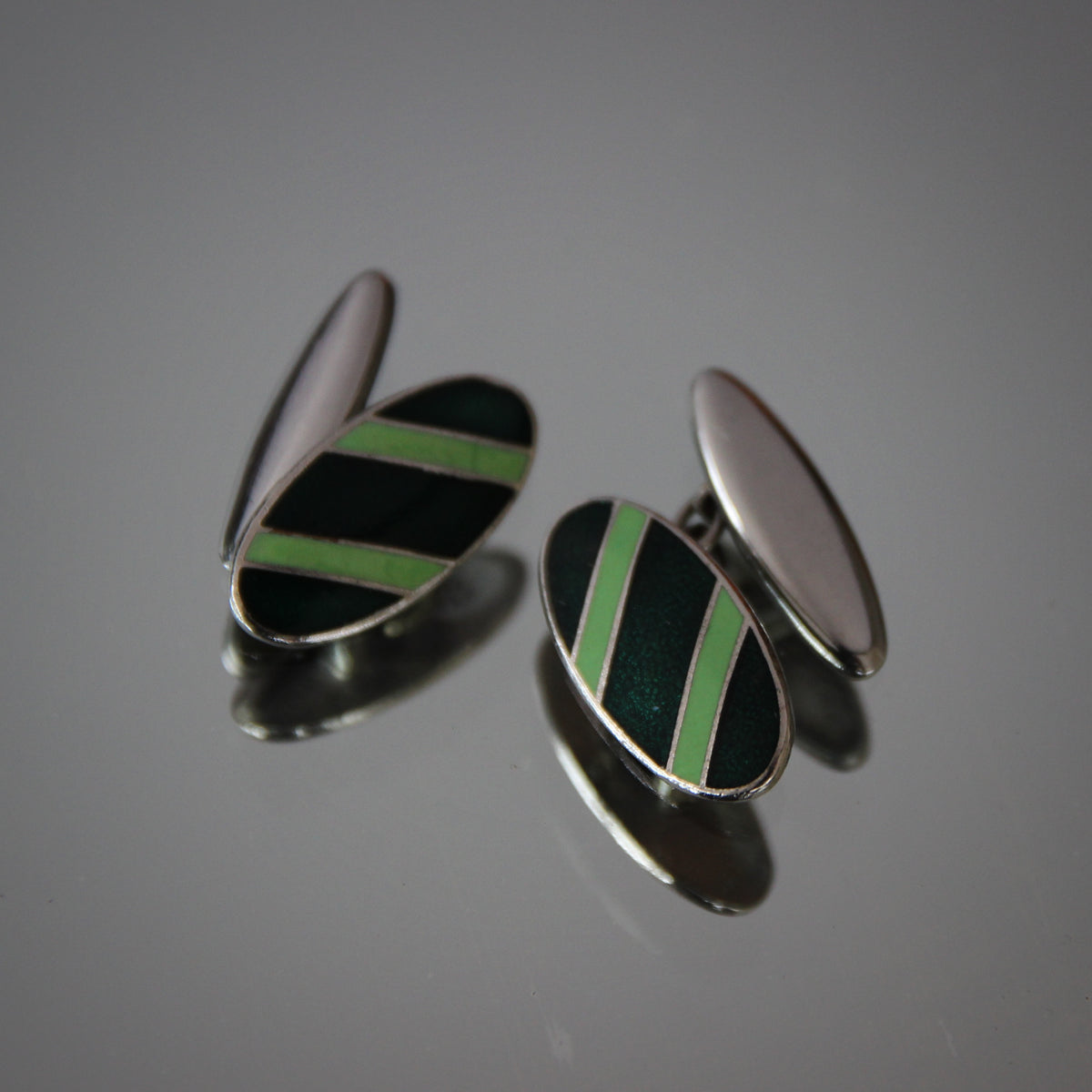 English Repp Stripe Cufflinks