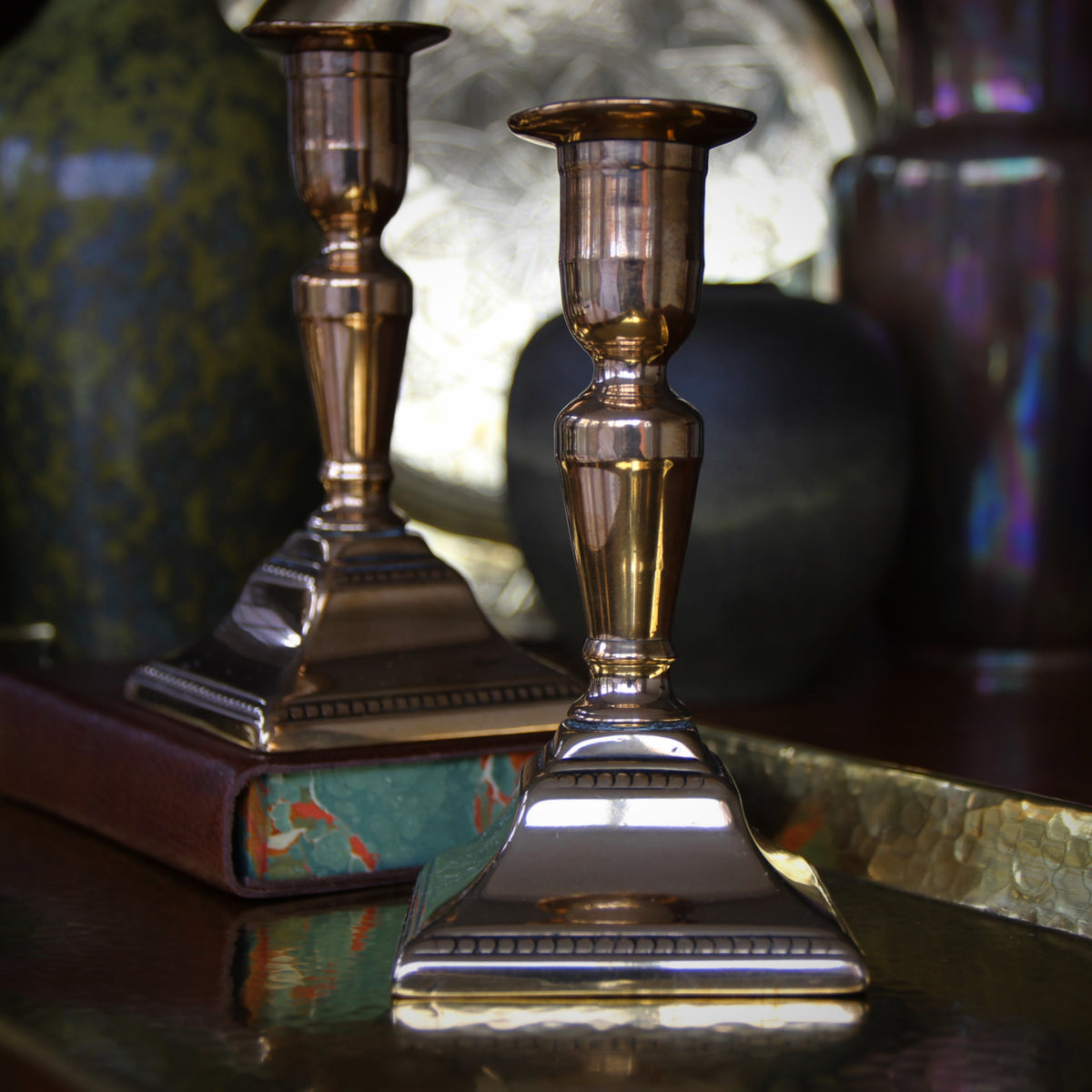 Georgian Bronze Candlesticks