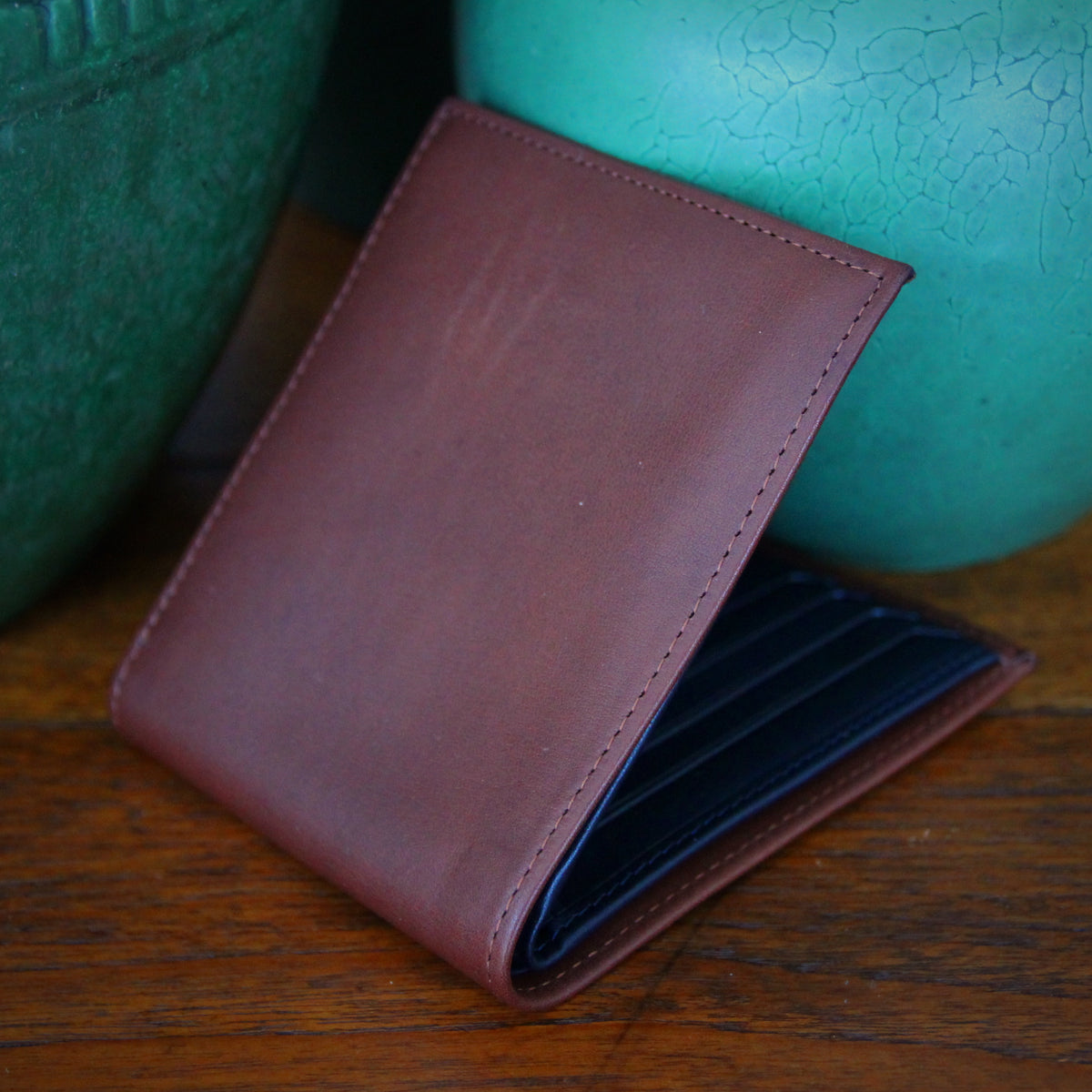 Brown & Navy Classic Wallet