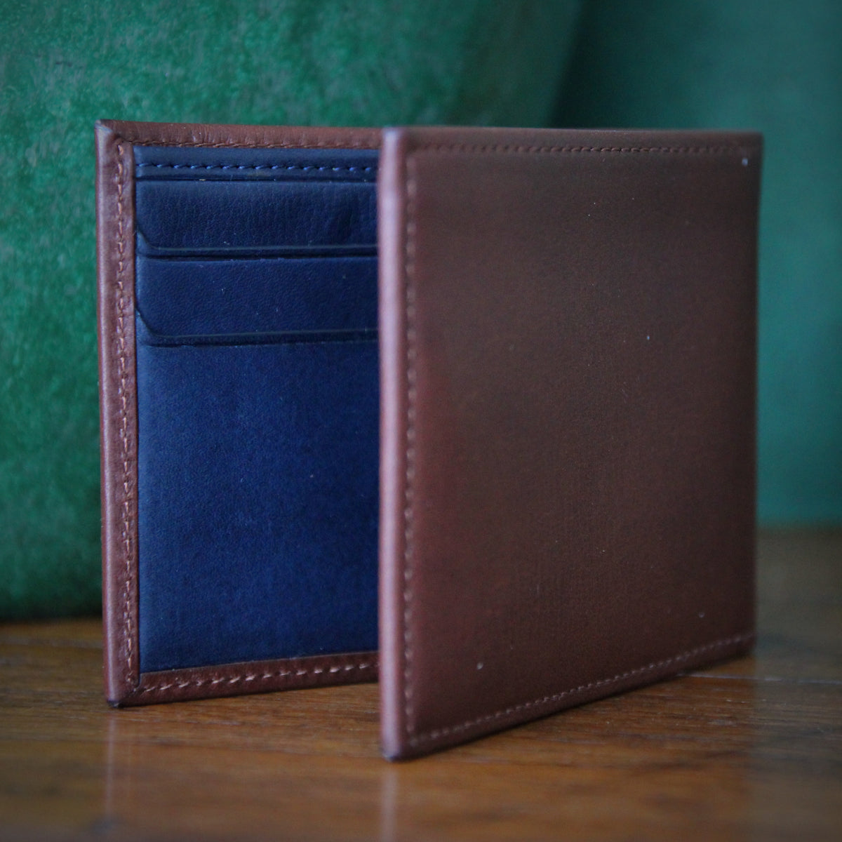 Brown & Navy Slim Wallet
