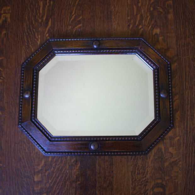 Oak-Framed English Mirror