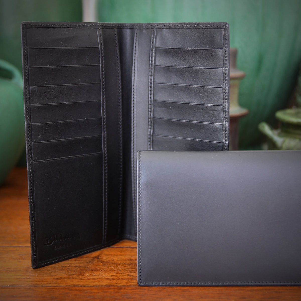 "Black ""Dress Wallet"" Checkbook"