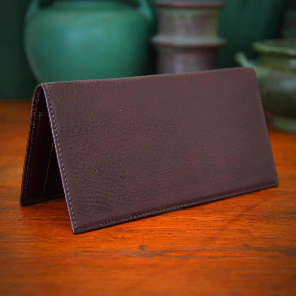 "Brown ""Dress Wallet"" Checkbook"