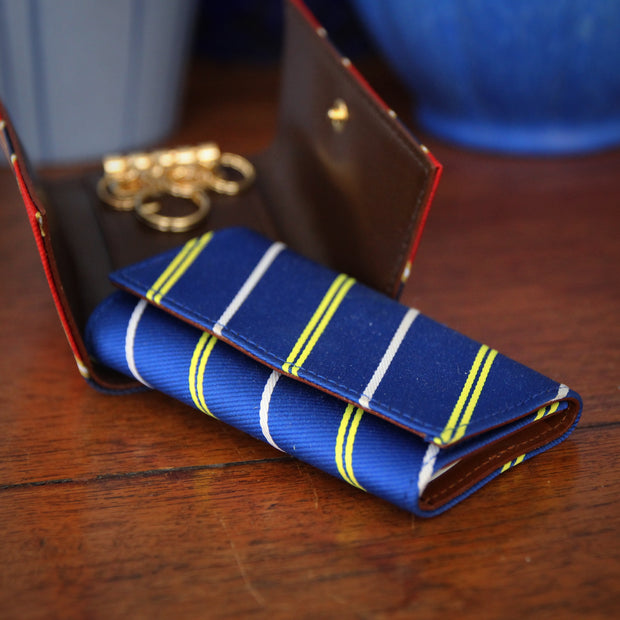 Japanese Repp Striped Key Wallet