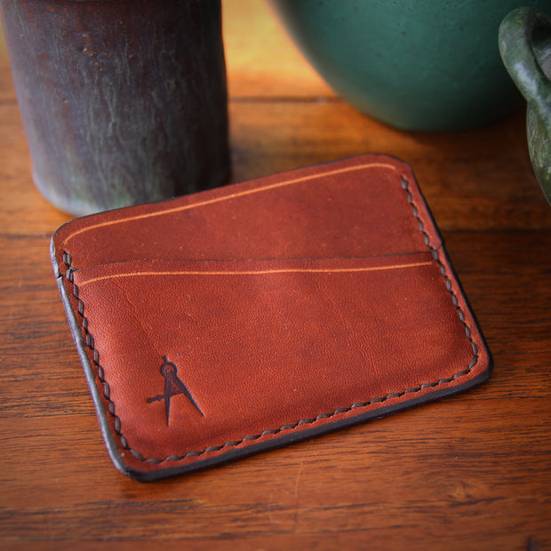 Rustic Hand-Stitched Card Sleeve