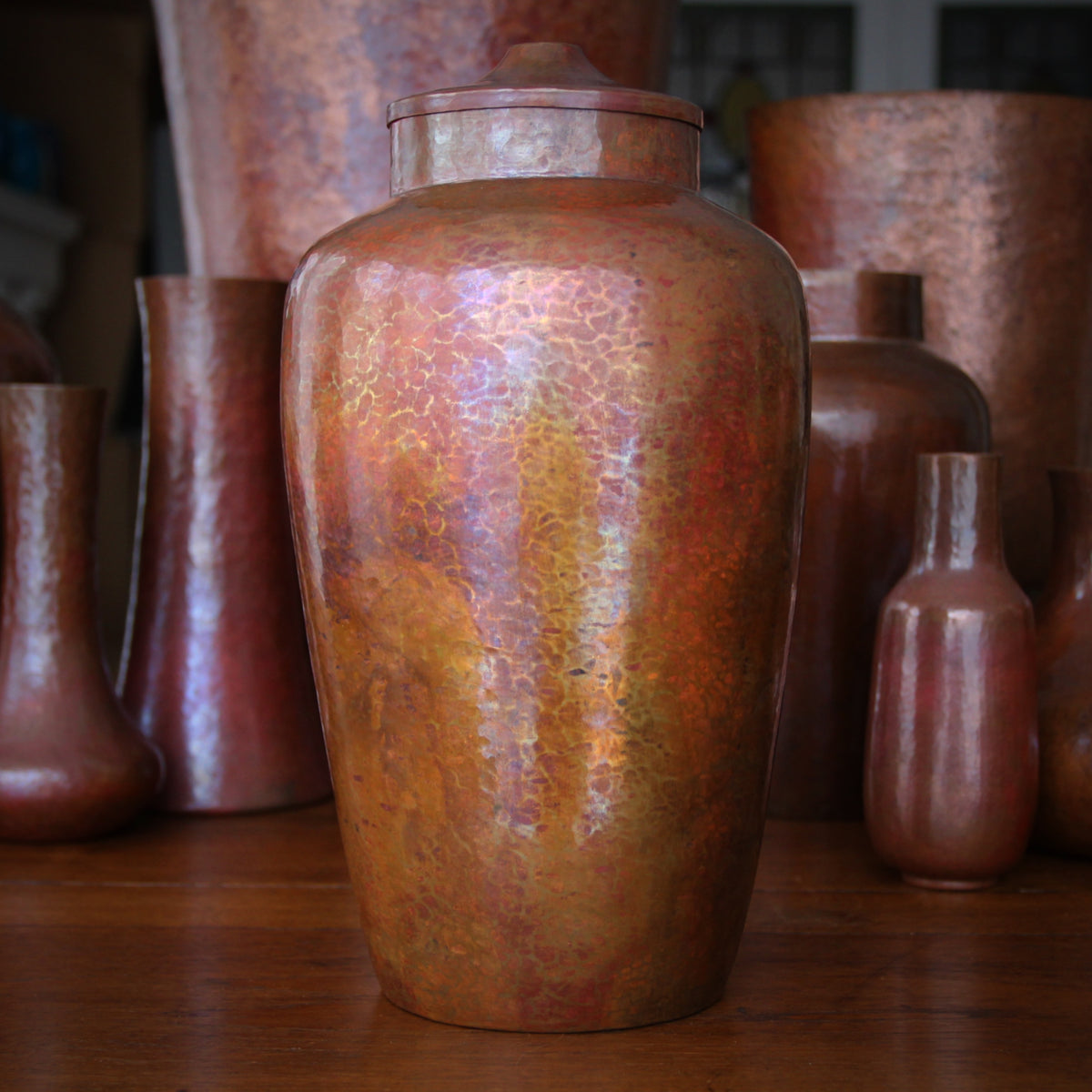 Copper Canopic-Form Jar