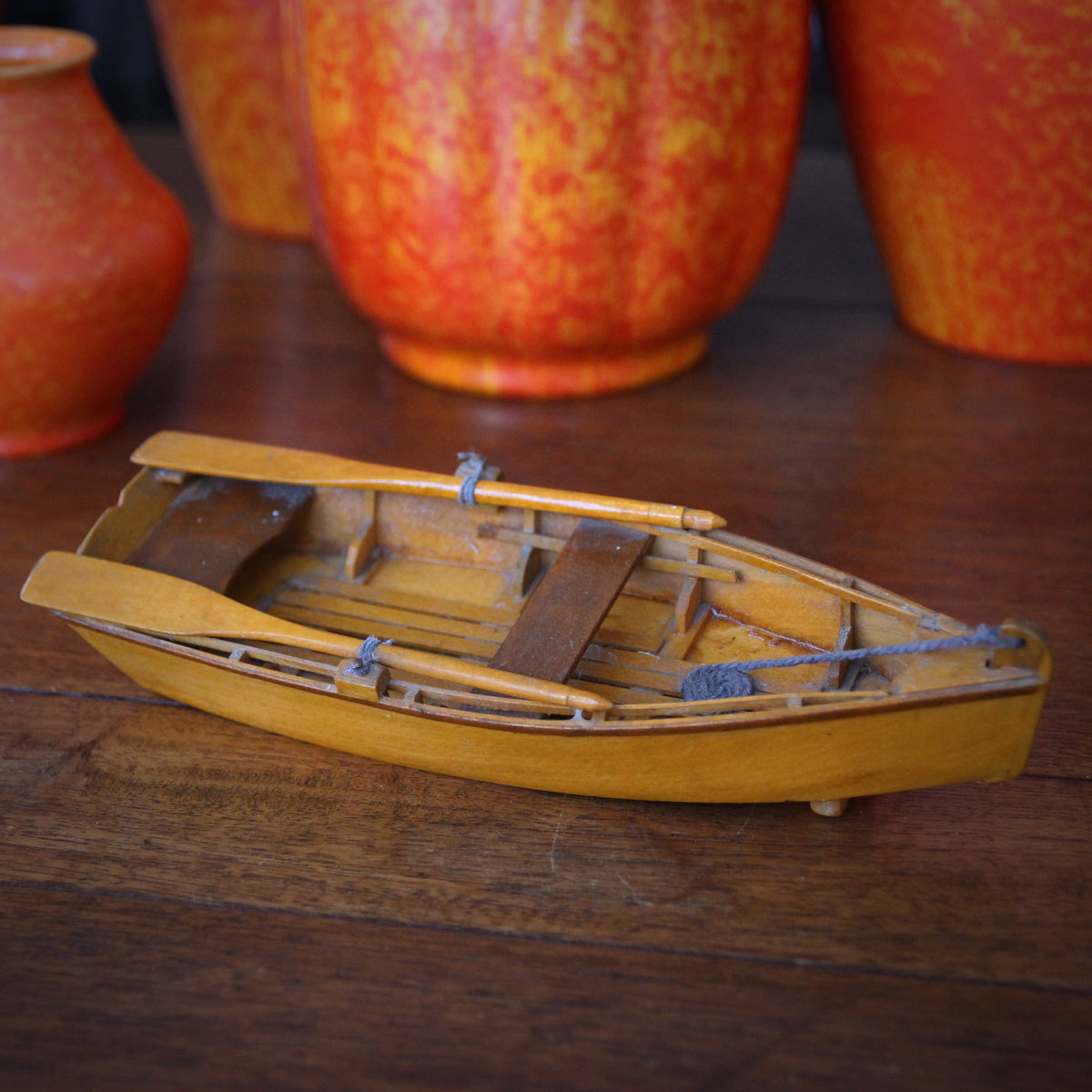 Handmade Wooden Rowboat