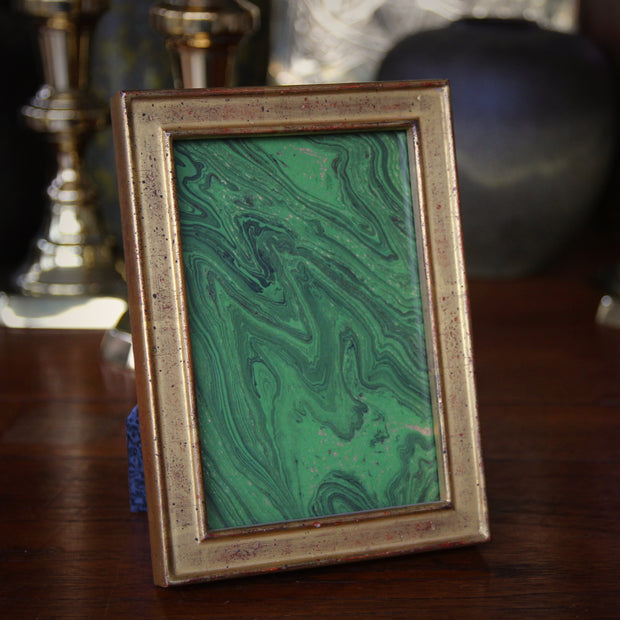 Gold Leaf Center Channel Frame (4x6)