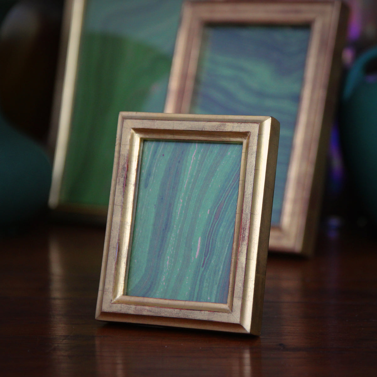 Center Ridge Gold Leaf Frame (2.5x3.5)
