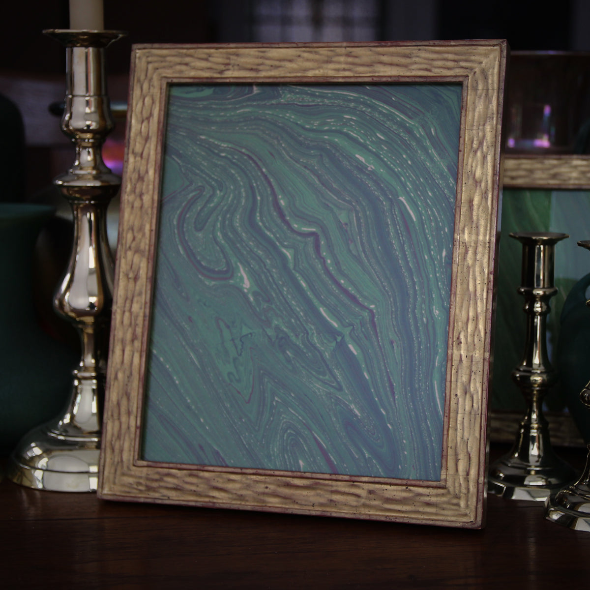 Gold Leaf Frame with Bark Texturing (8x10)