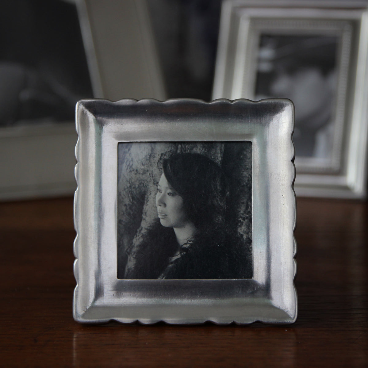 Ruffled Pewter Frame (2.5 Sq.)