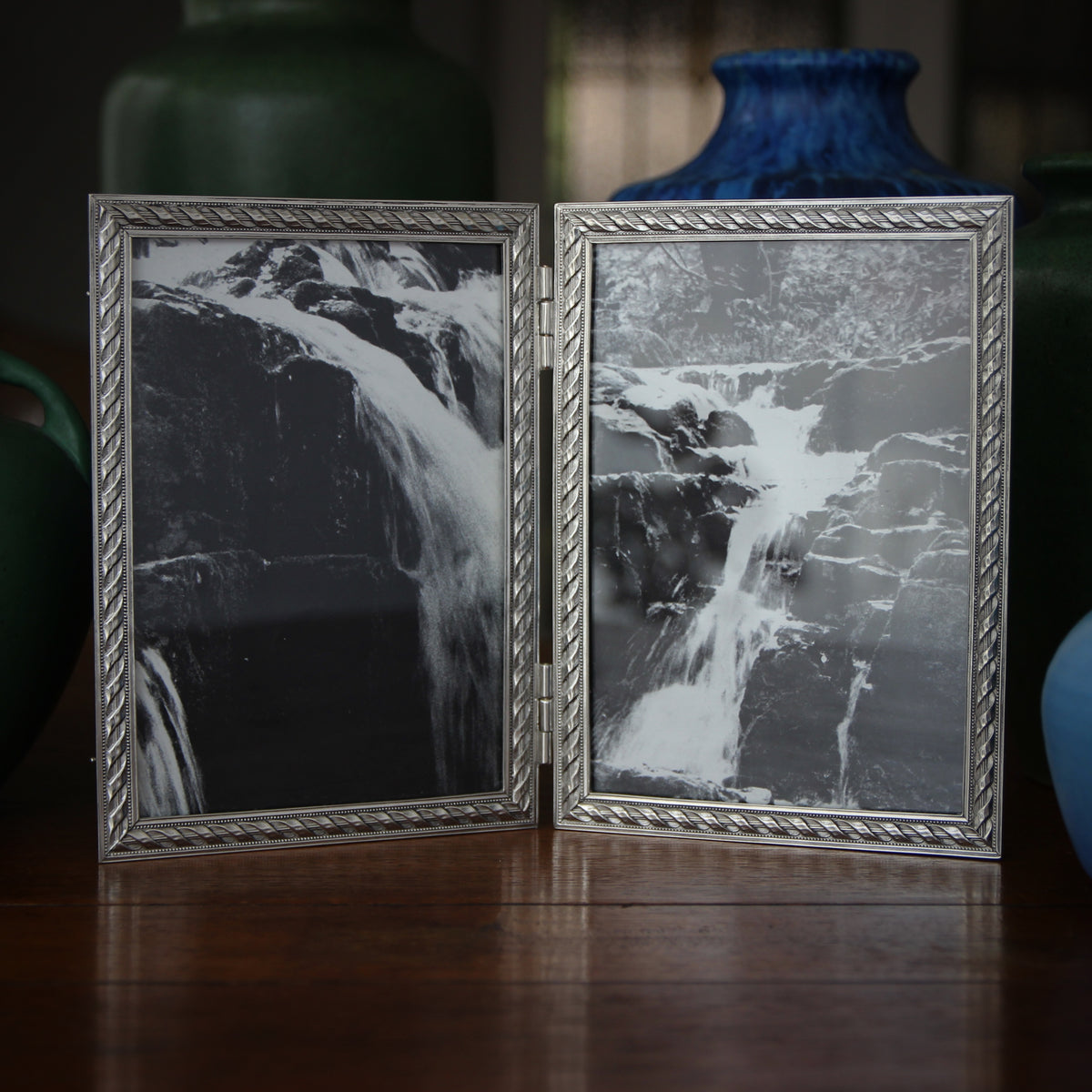 Pewter Rope Double Frame (5x7)