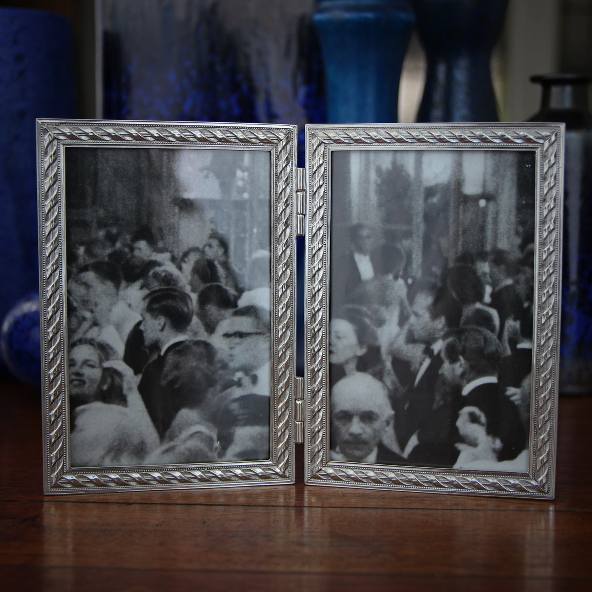 Pewter Rope Double Frame (4x6)