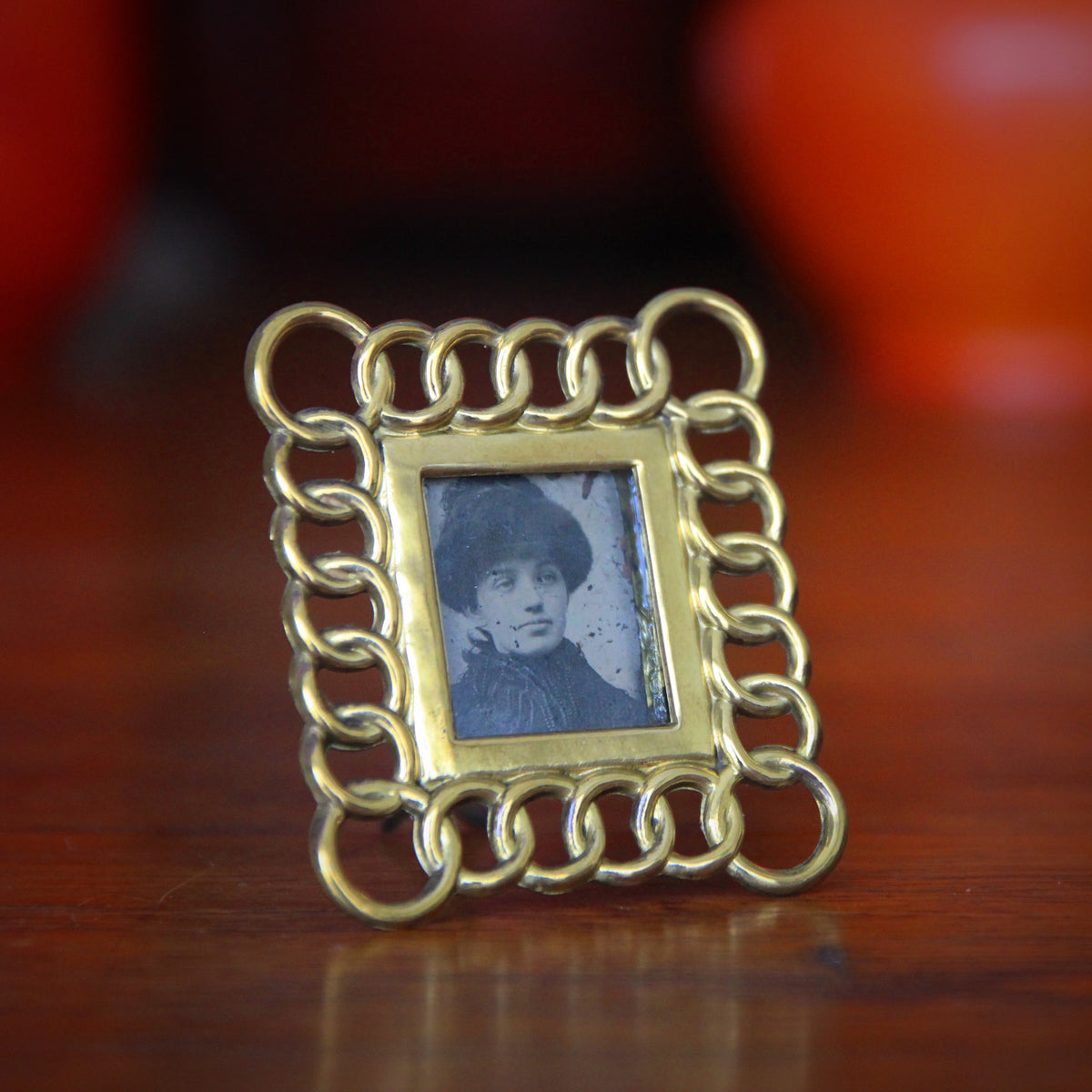Victorian Brass Photo Frame