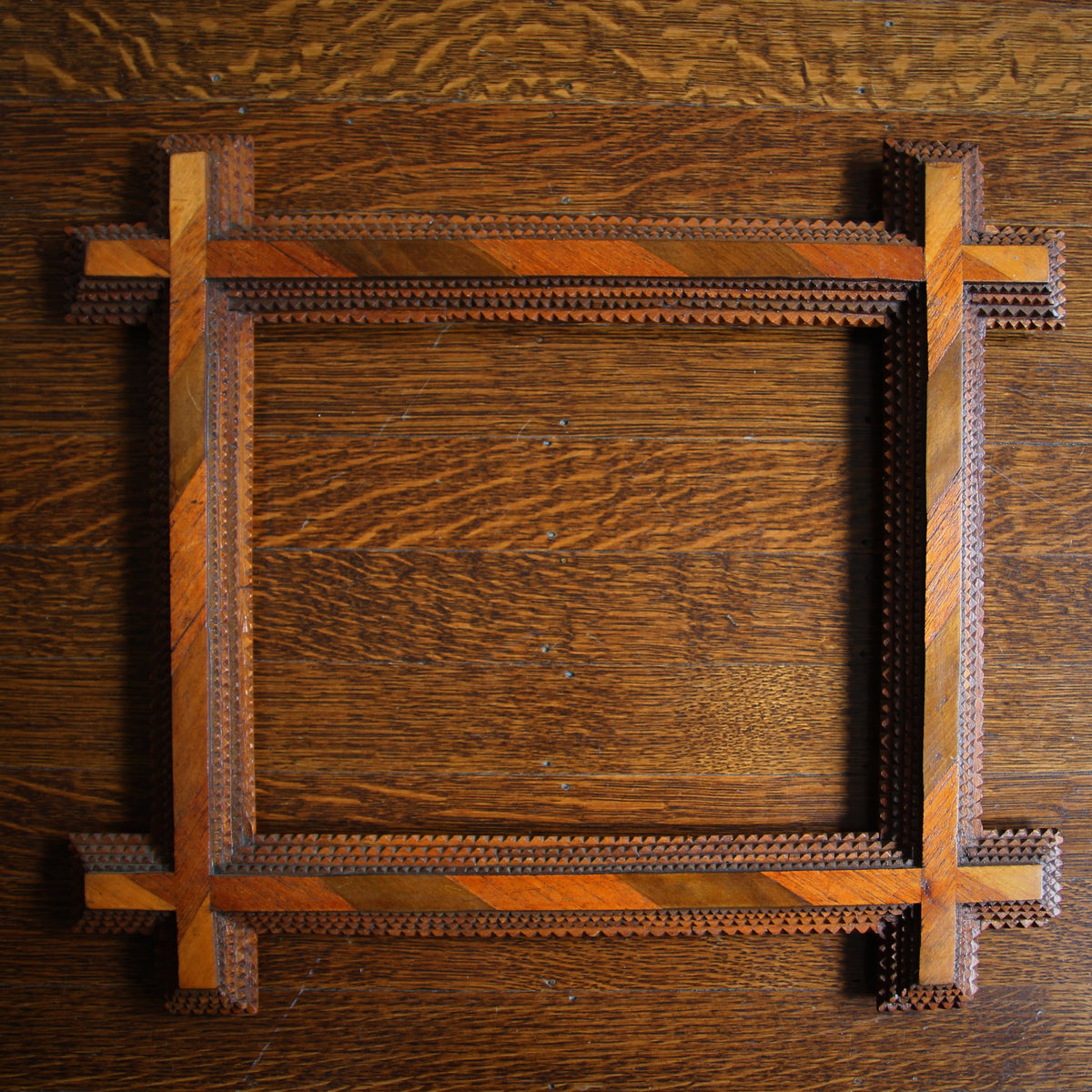 "Chip-Carved ""Tramp Art"" Frame"