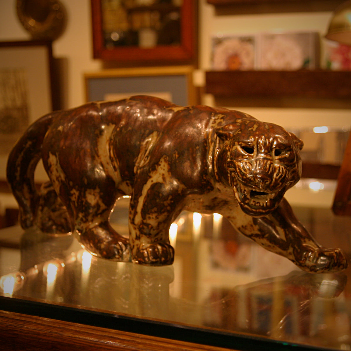 Stalking Panther Sculpture