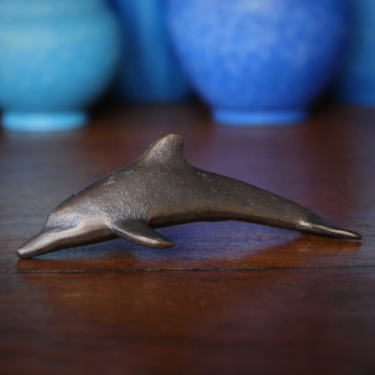 Bronze Dolphin Sculpture