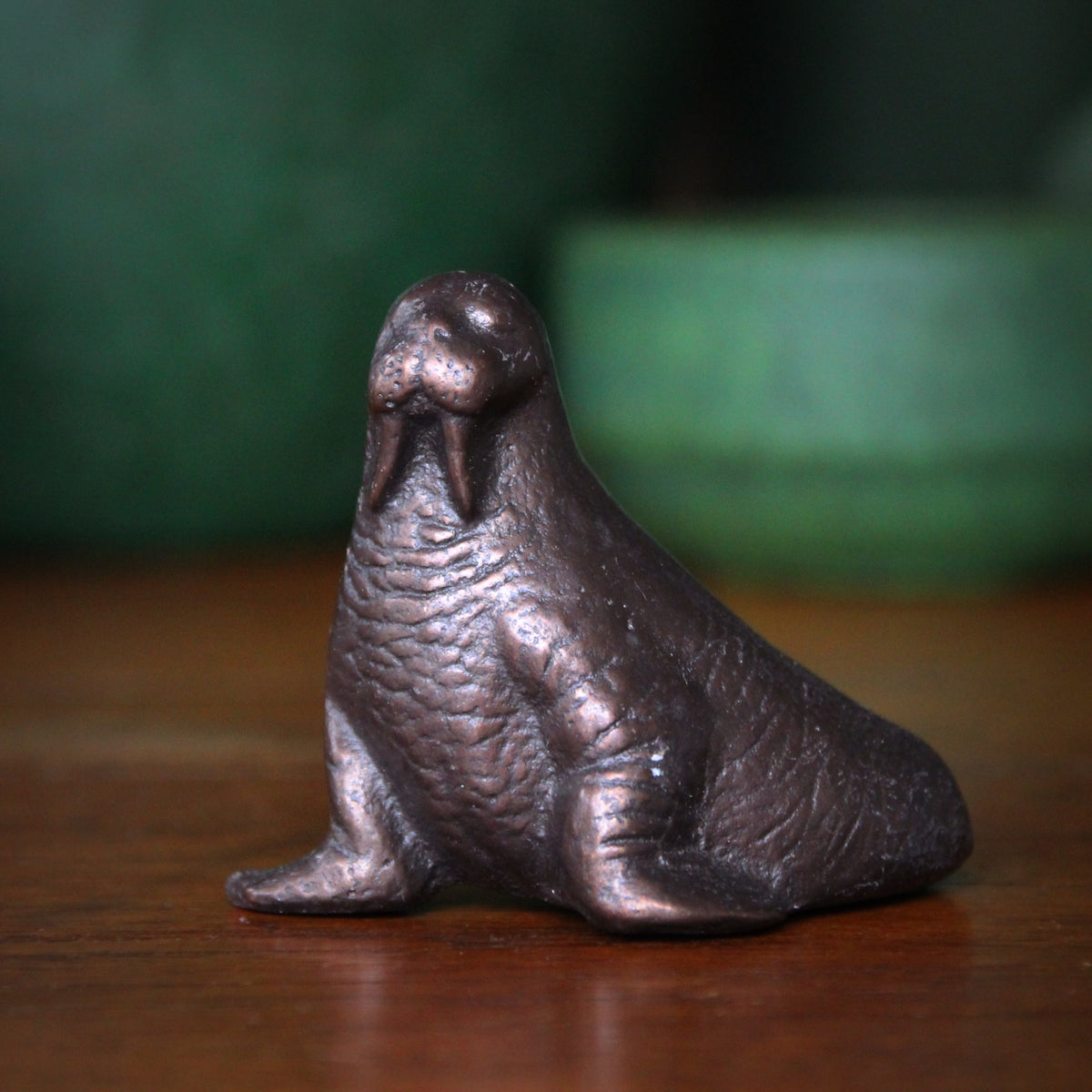 Bronze Walrus Sculpture
