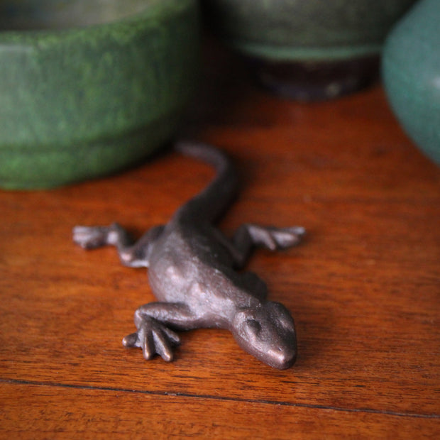 Bronze Gecko Sculpture