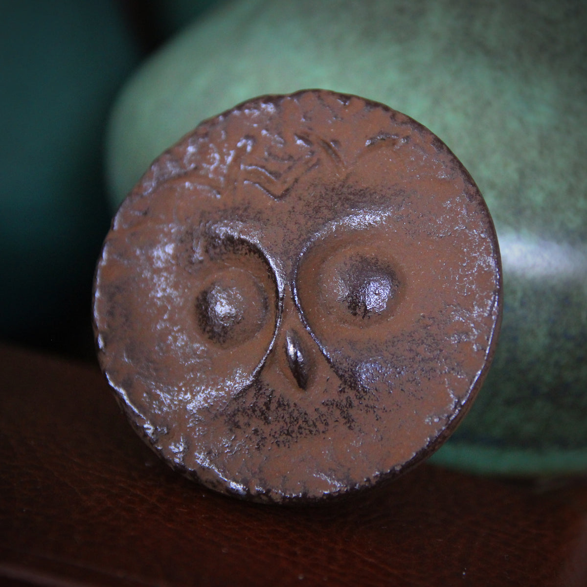 Japanese Iron Owl Paperweight