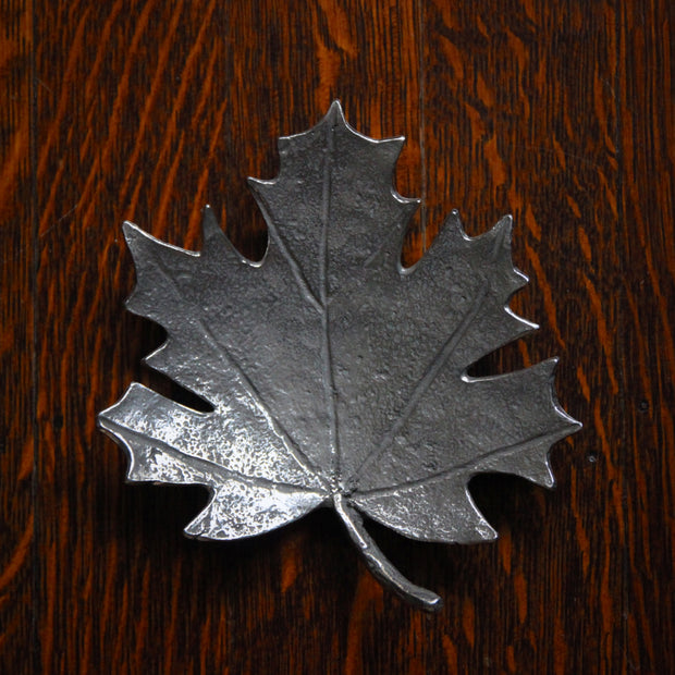 Pewter Maple Leaf Dish