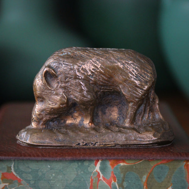 French Bronze Wild Boar