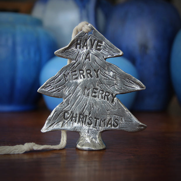 "Pewter ""Merry Christmas"" Sculpture"