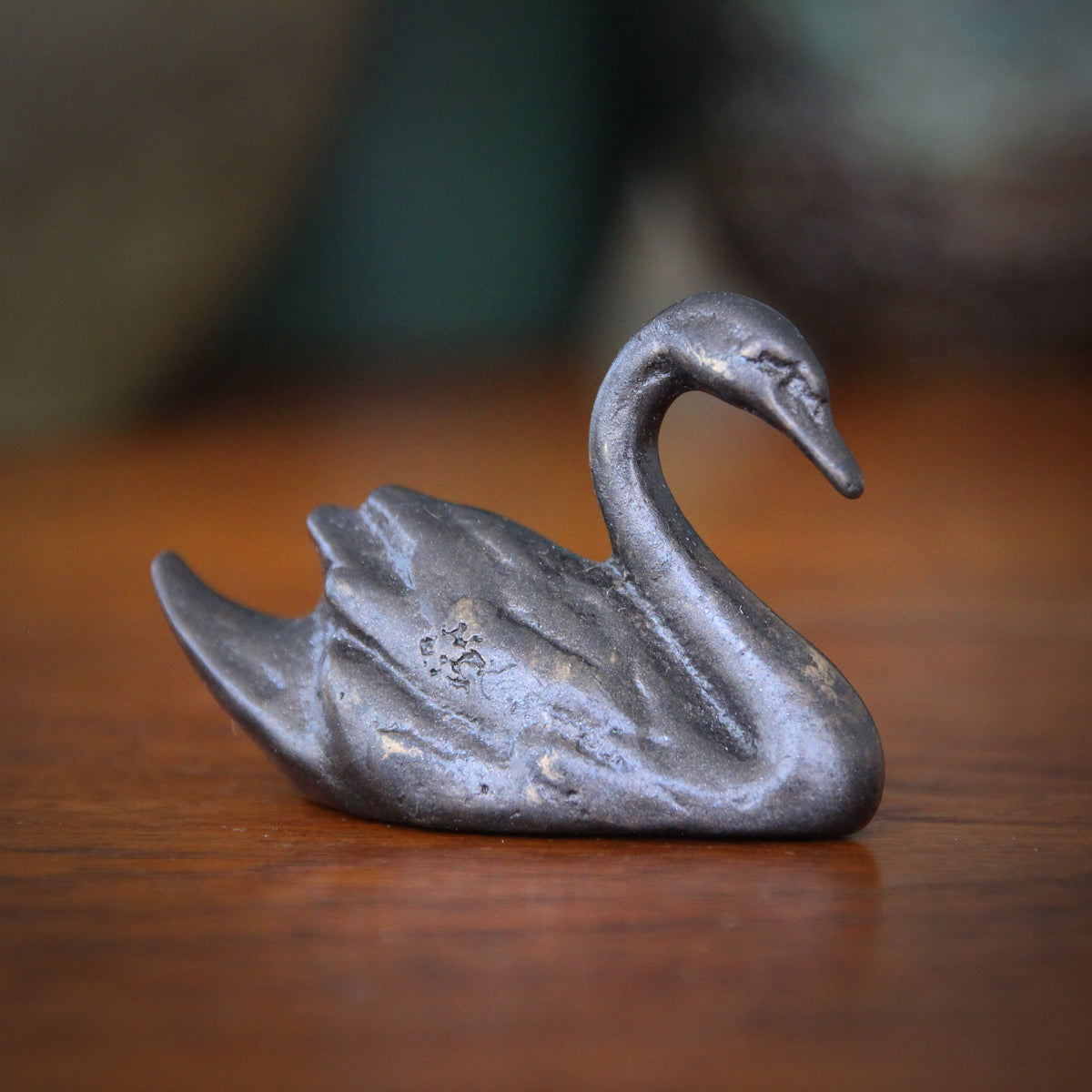 Bronze Swan Sculpture