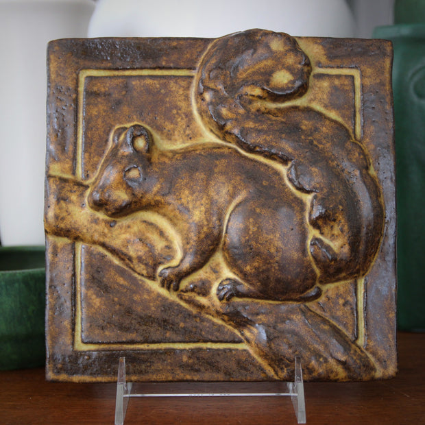 Stoneware Squirrel Plaque