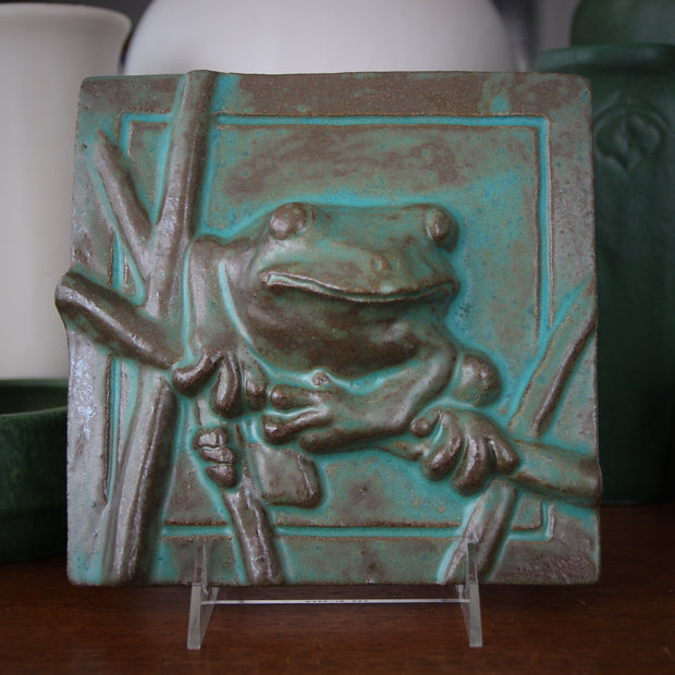 Stoneware Tree Frog Plaque
