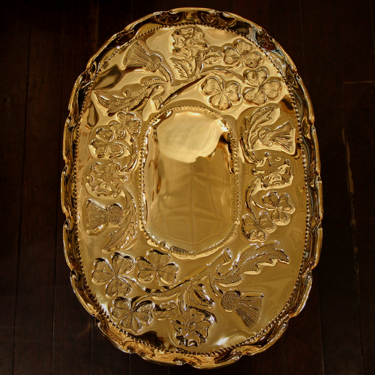 British Isles Brass Tray