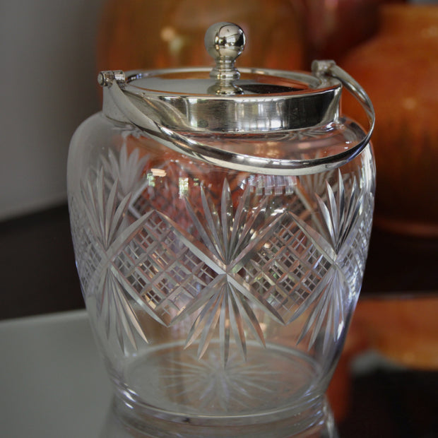 Cut-Glass Biscuit Barrel