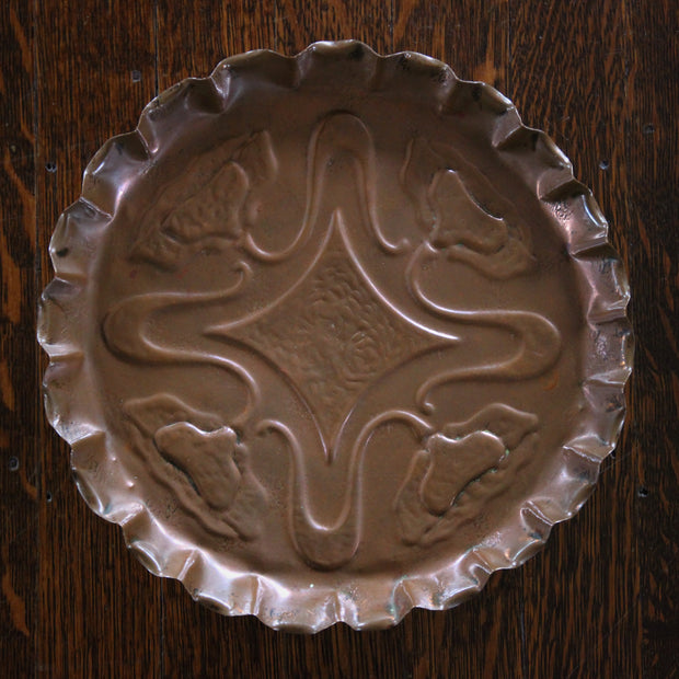Copper Poppy Plate