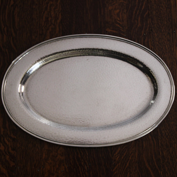 Hammered Silver-plated Tray