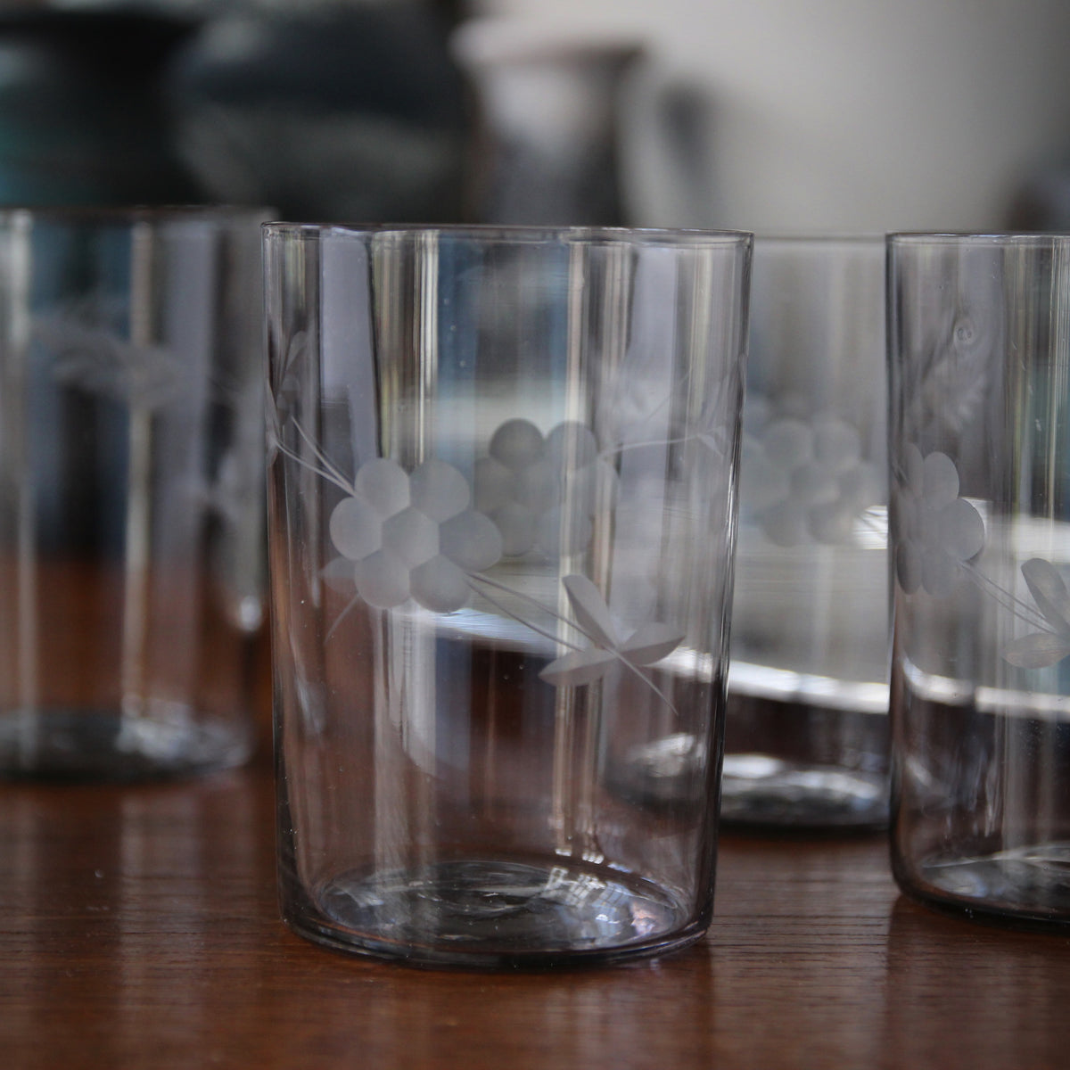 Hand-Etched Wine Tumblers