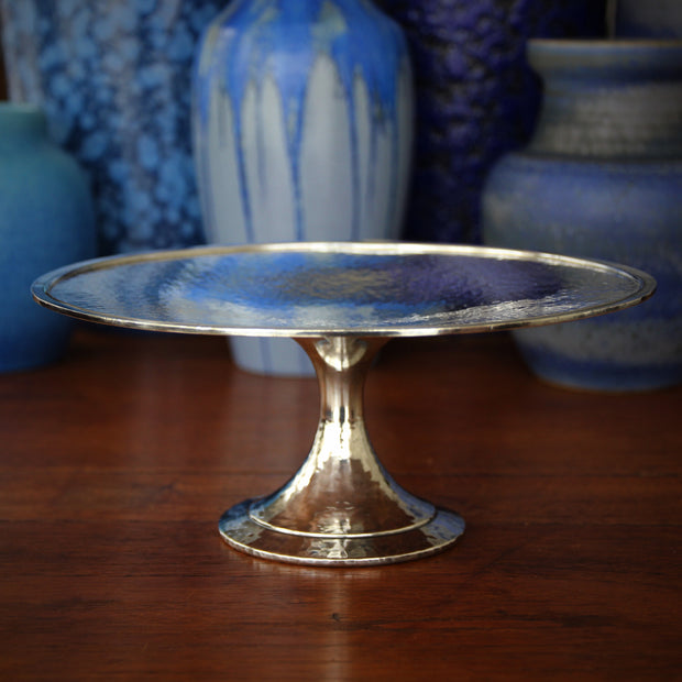 Hammered Cake Plate