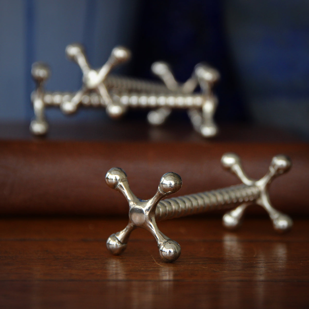 Victorian Silver-Plated Knife Rests