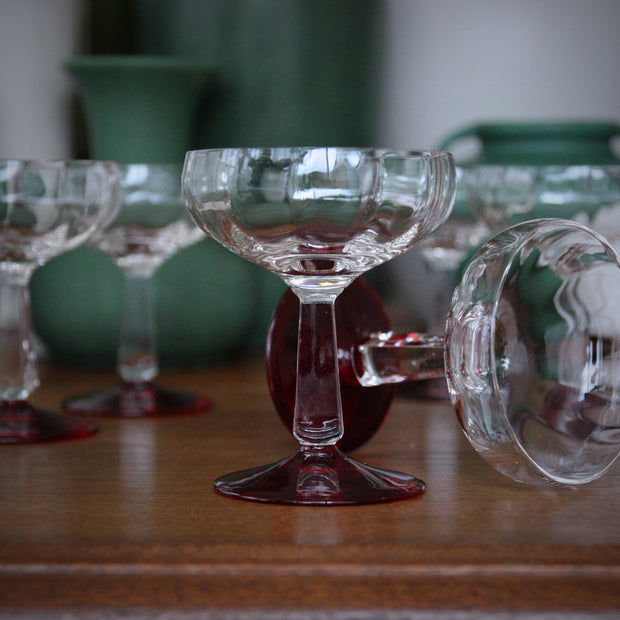 Softly-Faceted Stems with Ruby Feet