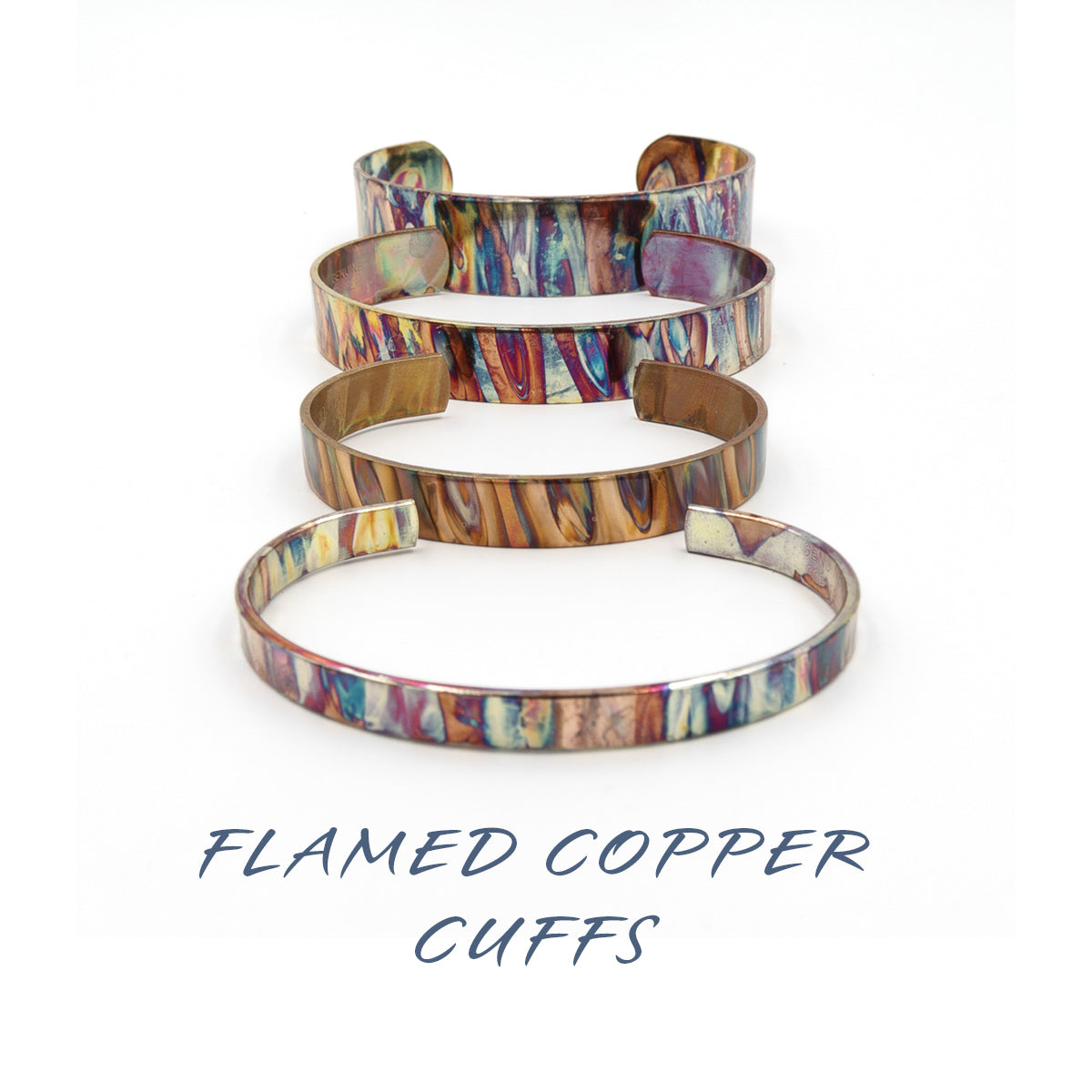 Flamed Copper Cuffs