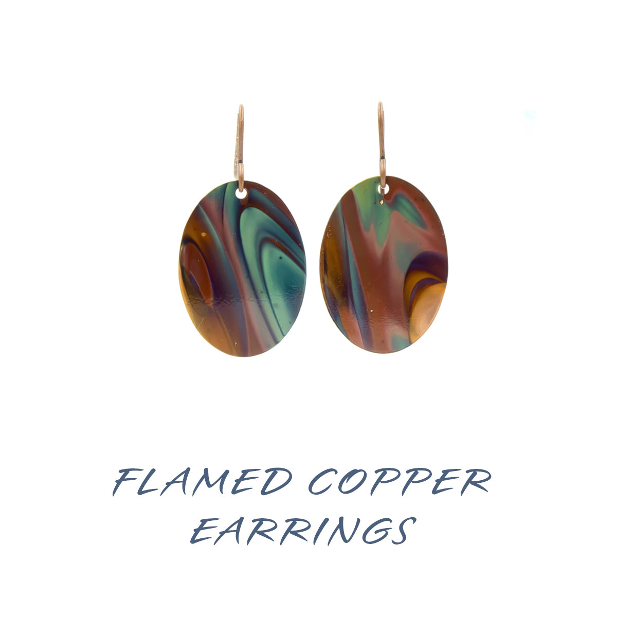 Flamed Copper Earrings