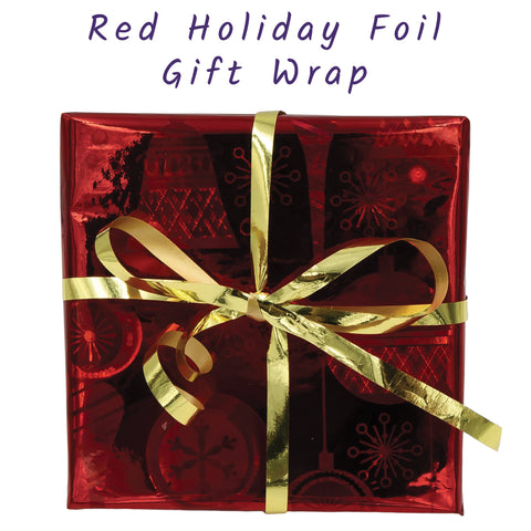 Red Foil Jewelry Gift Wrap Box