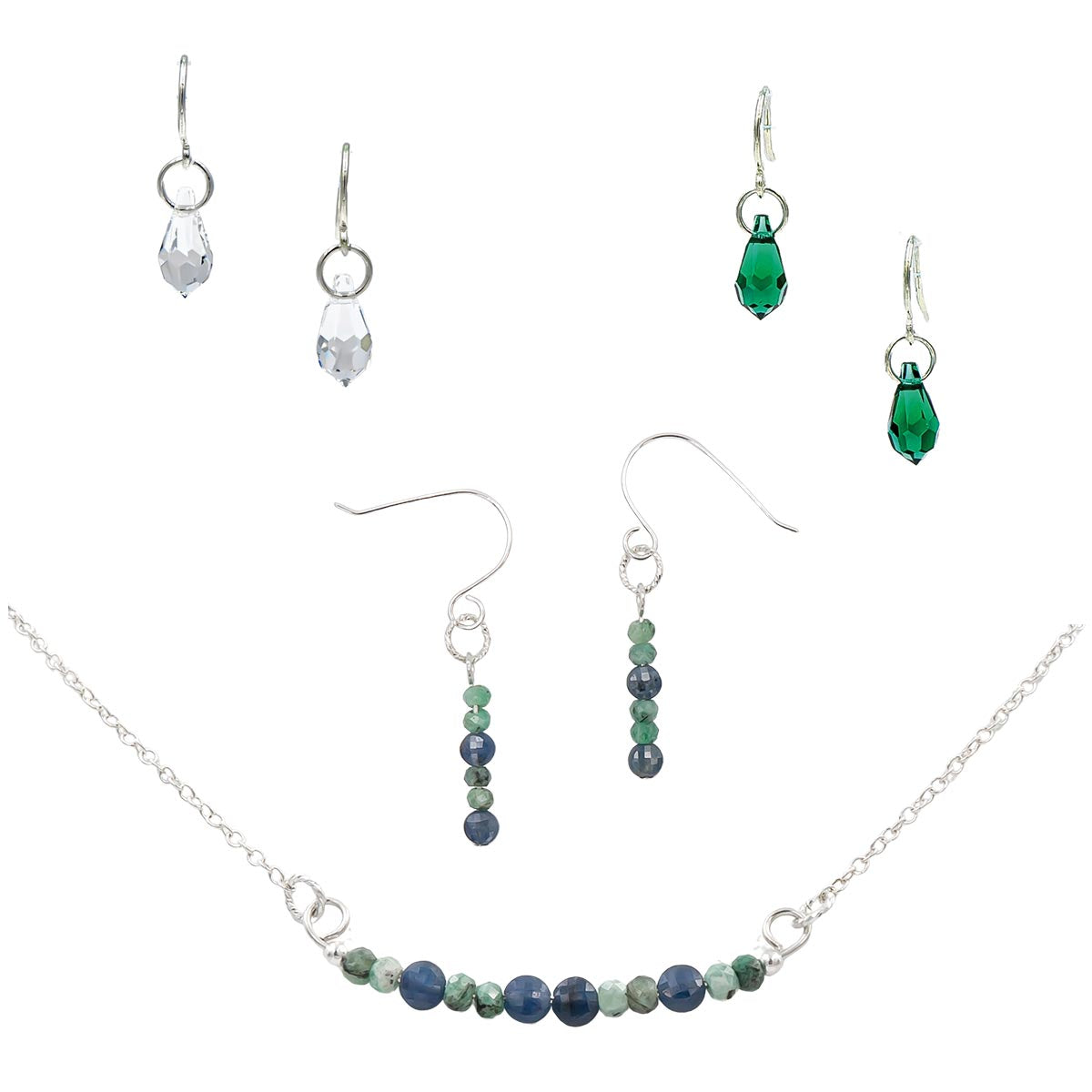 Mothers Day Birthstone Sale Emerald Stone Swarovski Crystal April Diamond Earth Song Jewelry