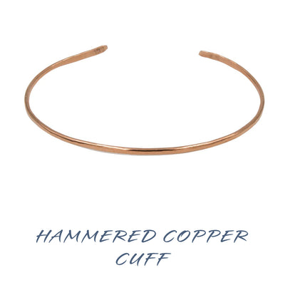 Handmade hammered copper bangle cuffs