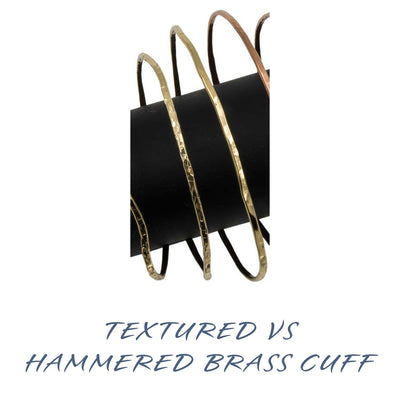 Handmade gold brass bangle cuffs