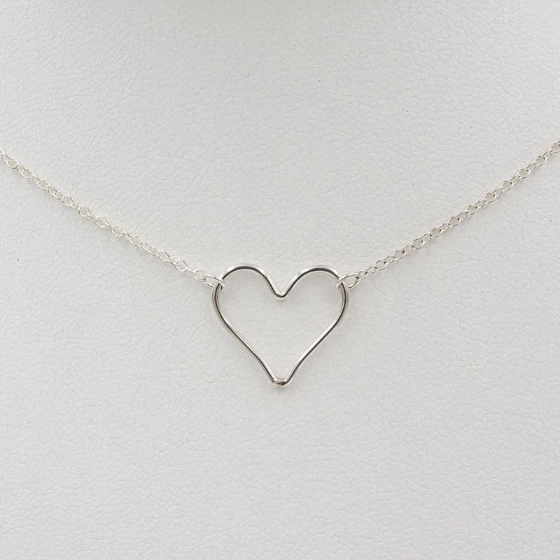 Delicate Heart Sterling Silver Handmade Necklace