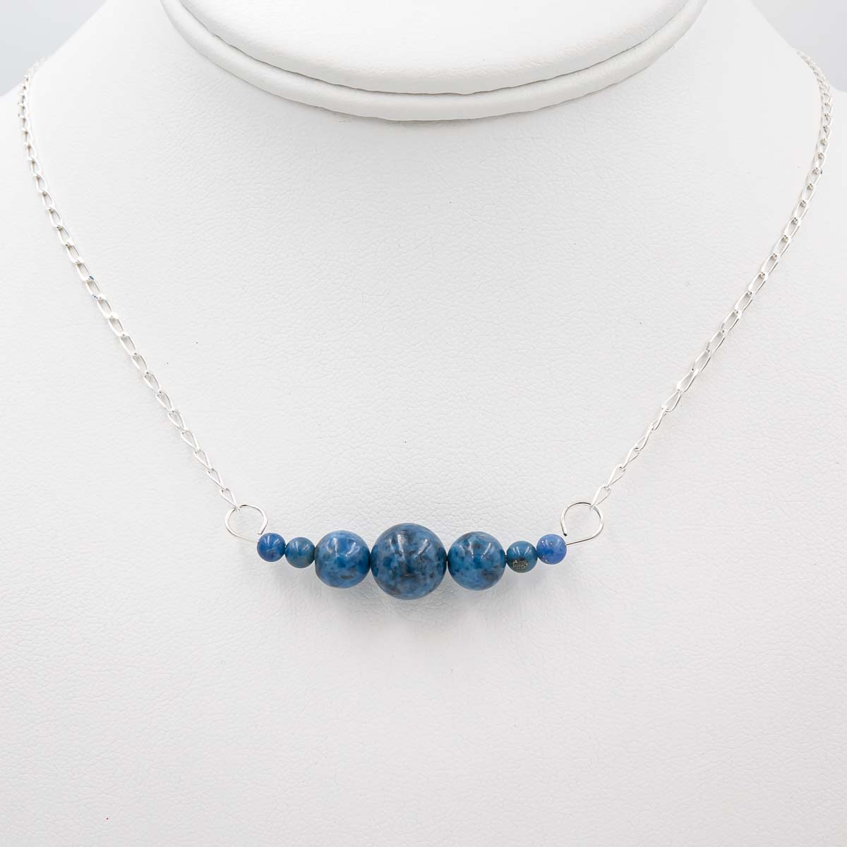 Denim Lapis Interchangeable Sterling Silver Necklace